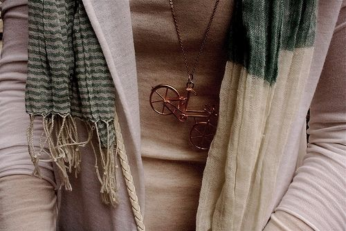 scarf & bicycle necklace