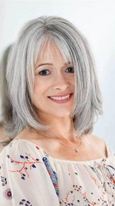 Peinados Cortes De Pelo Mujeres 40 50 A 241 Os 167 Peinadis En 2019 Pelo Corto Mujer Canas