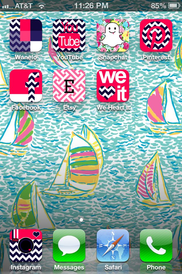 My homescreen! Use the app cocoppa to make your apps