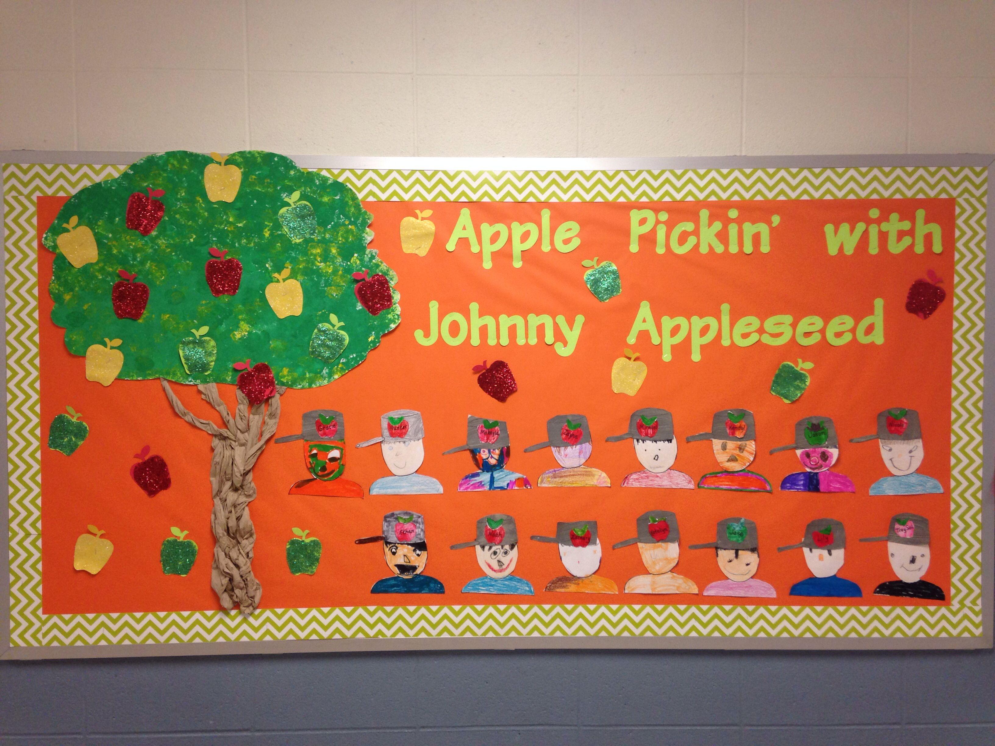 1st Grade Johnny Appleseed Bulletin Board For September