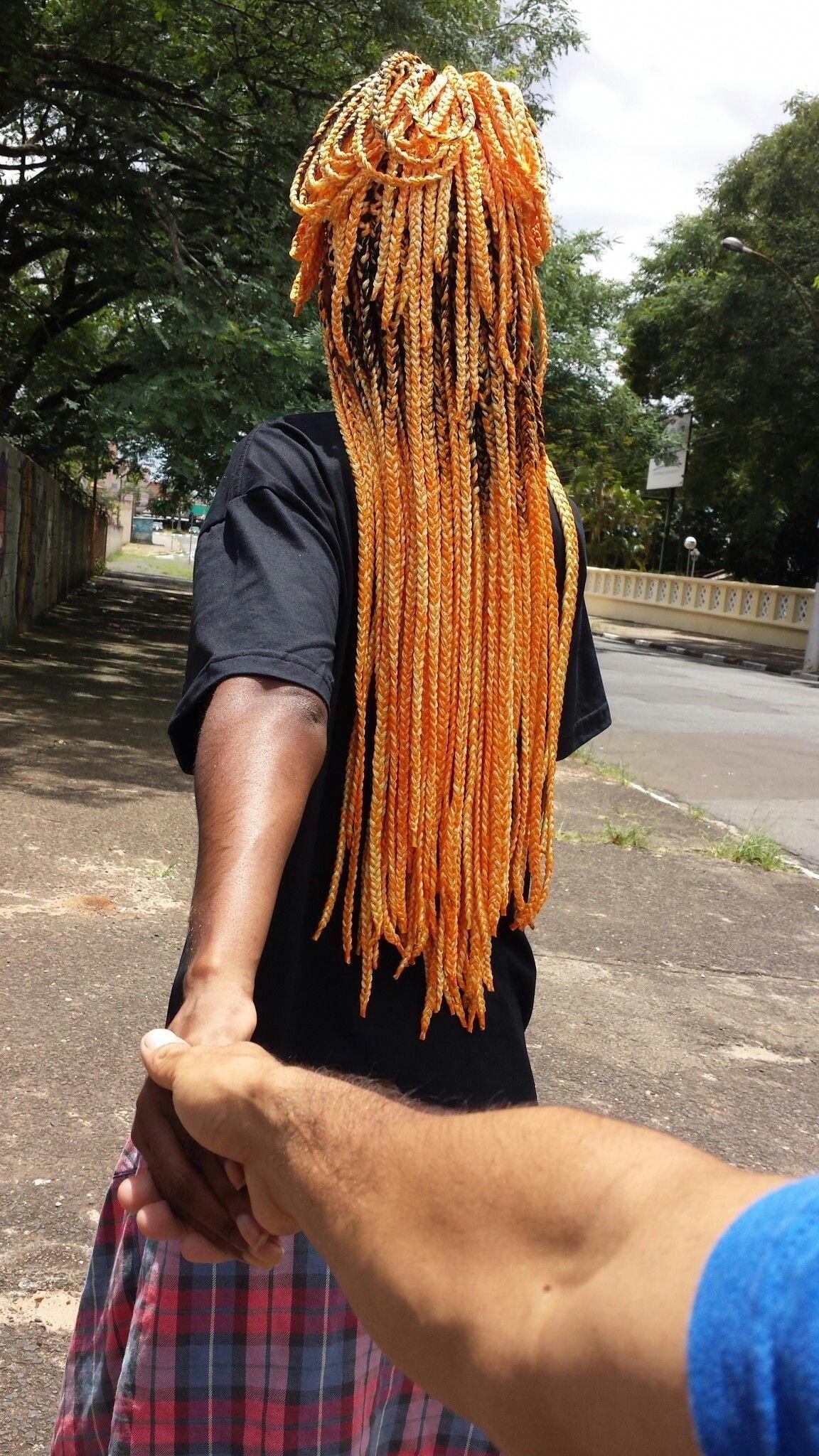 Box braids coloridas Boyfriends #boxbraidshaircut # single ...