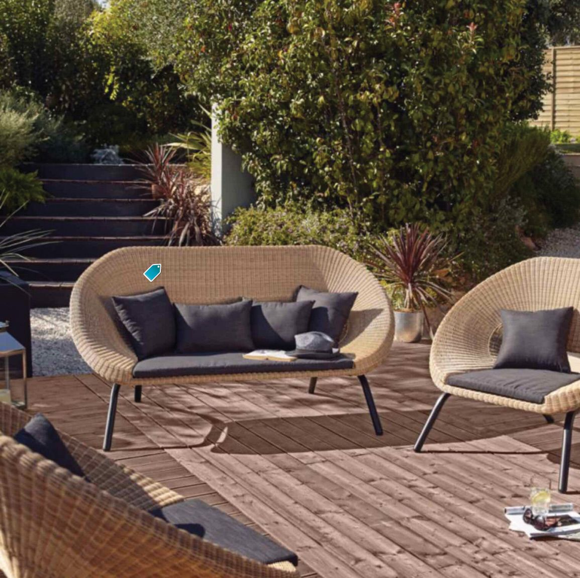 B&Q Loa Rattan 3 Seater Coffee Set. Picture courtesey of ...