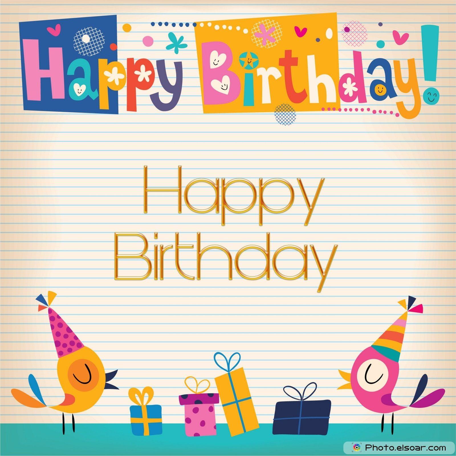 Happy Birthday card on pretty background
