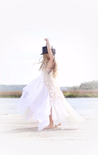 Stevie Nicks Gypsy Wedding Dress Bohemian Bridal Gown Maxi True Rebel Clothing