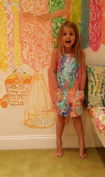 a598128c3dd Lilly Pulitzer Little Lilly Classic Shift Dress in Electric Feel ...
