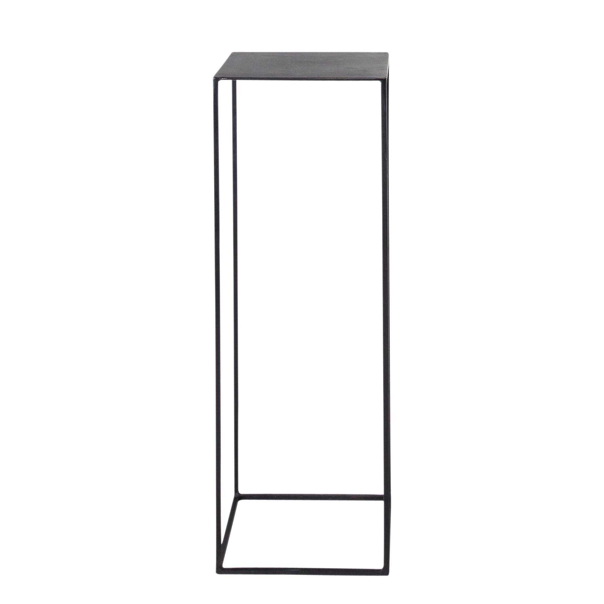 Mesita auxiliar industrial de metal negro An. 30 cm | Mesitas ...