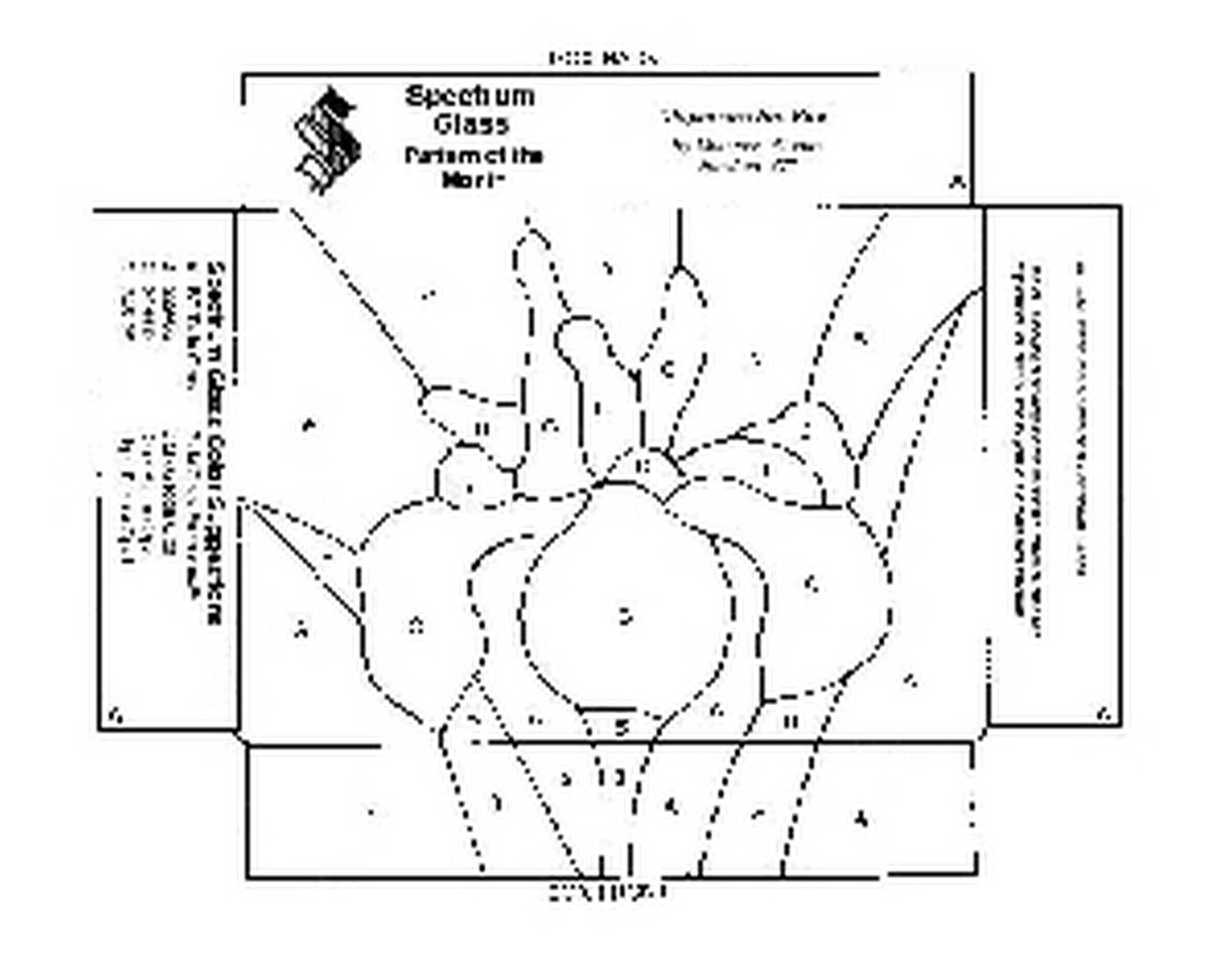 hight resolution of free stained glass pattern 2045 japanese iris box