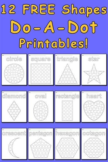 12 shapes do a dot printables shapes worksheets coloring pages activities preschool. Black Bedroom Furniture Sets. Home Design Ideas