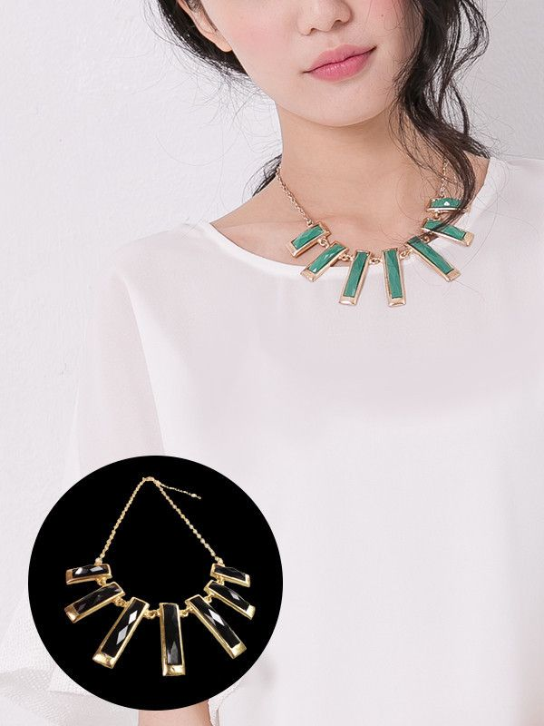 Deco Bib Necklace $15.99