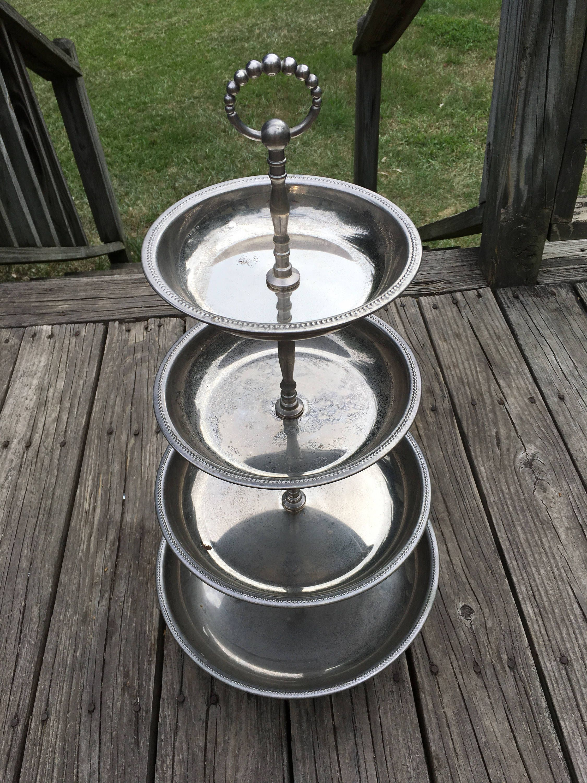 Silver Plate 4 Tier Cake Stand Godinger Silver Art Co 4 Tier