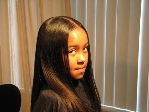 Freshly Relaxed Hair With Images Flat Iron Hair Styles Flat