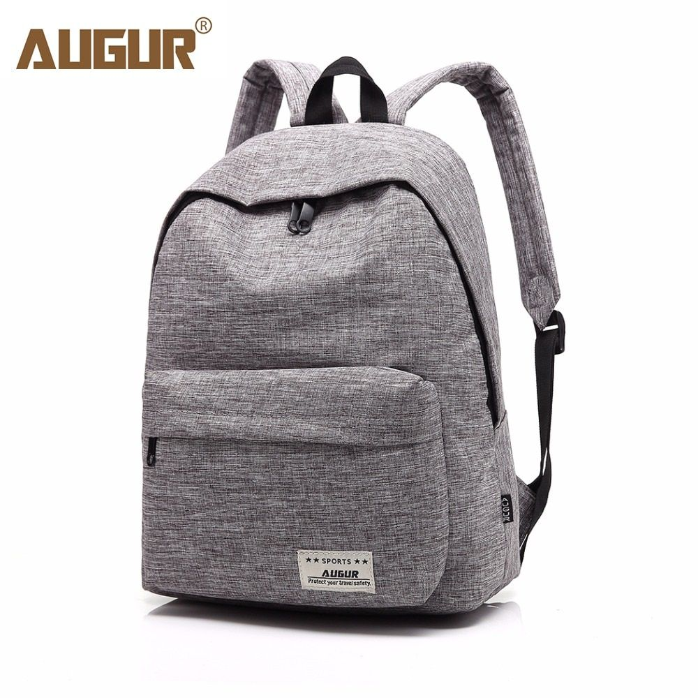 a272834a66a2 AUGUR Brand Backpack For Men Woman School Bag 14inch Laptop High quality  Travel College school Bag Fashion Men Backpack