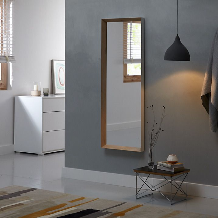 John Lewis Scandi White Edge Full Length Mirror 125 X 45cm Lighted Wall Mirror Rustic Wall Mirrors Mirror Gallery Wall