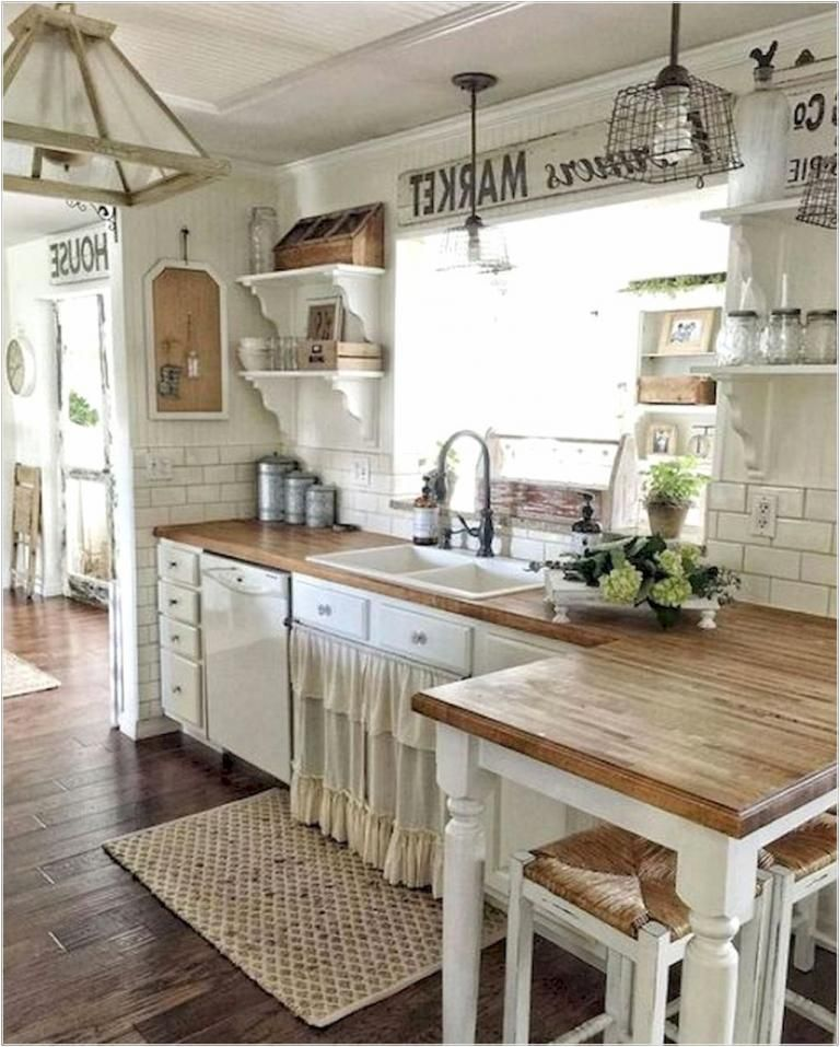 37 Best Farmhouse Kitchen Cabinet for Tiny House (With ...