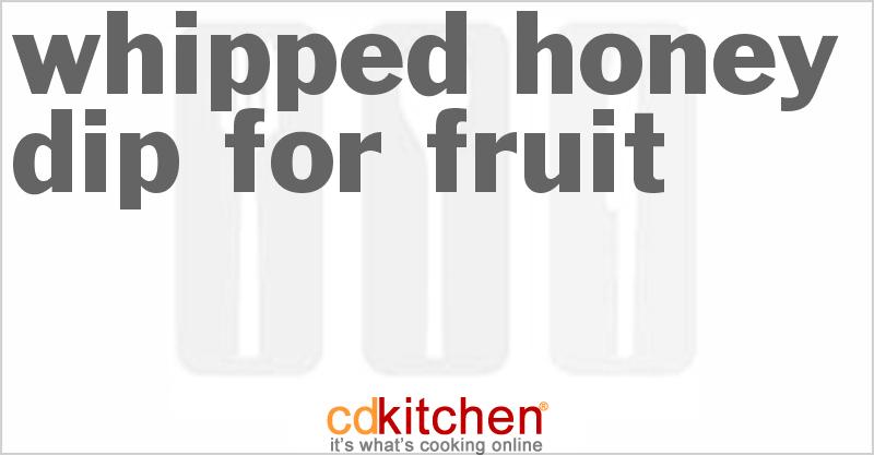 Made with honey, orange juice, tx lemon juice, heavy cream, cinnamon | CDKitchen.com