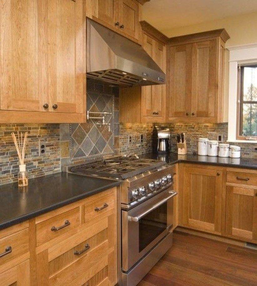 49 Gorgeous Kitchen Backsplash Decoration Ideas | Honey ... on Backsplash Ideas For Maple Cabinets  id=95654