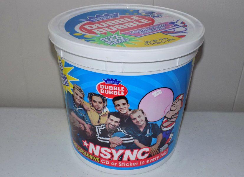 rare Nsync Dubble Bubble tub of gum NEW unopened! boy band Justin ...