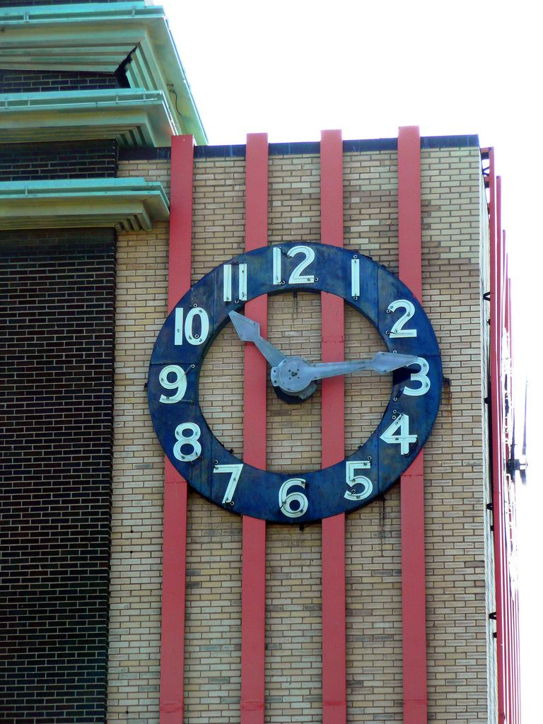 Kansas City, MO old Skagg's Drug Store clock | Flickr - Photo Sharing!