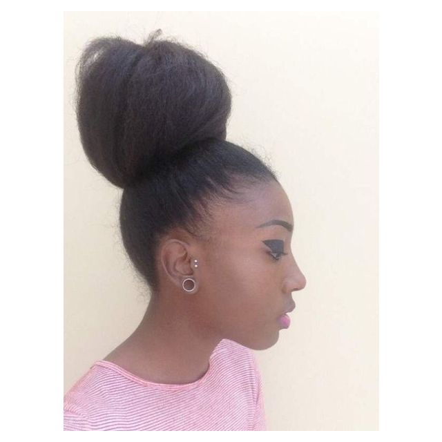 Natural Bun Hairstyles For Black Women Hairstyles Inspiration