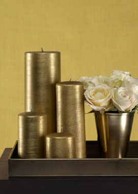 Gold Glitter Pillar Candles For A Fall Or Thanksgiving Tablescape Jamaligarden