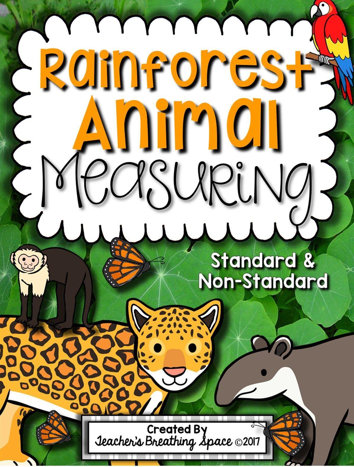 Rainforest Animal Measuring Book And Measurement Math