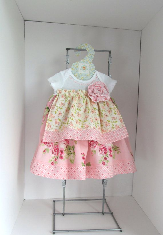 shabby chic baby dress nb girlie girl baby dress shabby chic rh pinterest com