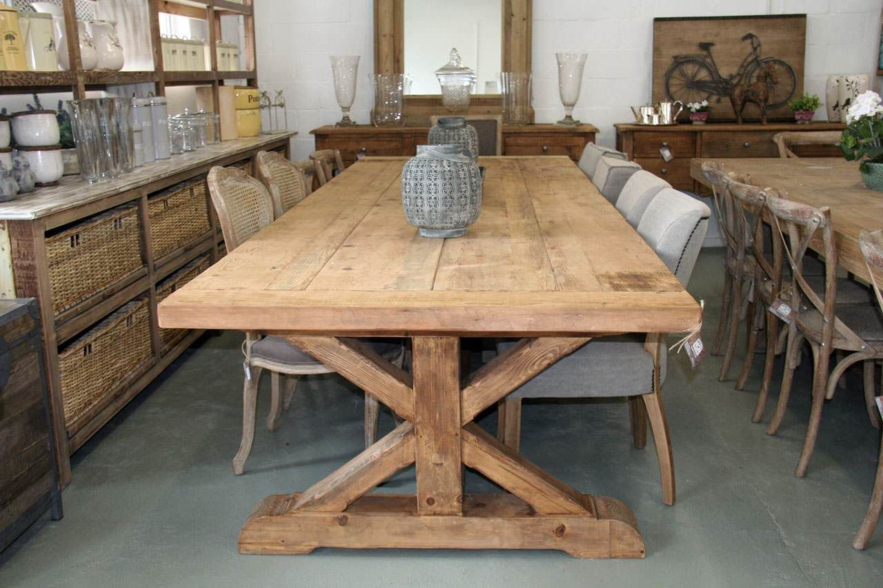 farmhouse 12 seater table  dining table dimensions 12