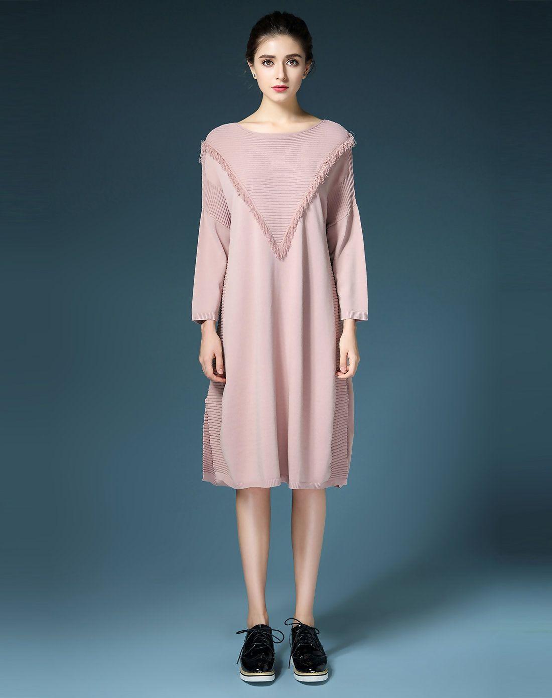 Adorewe vipme aline dresses phoebe fp lilac round neck fringe