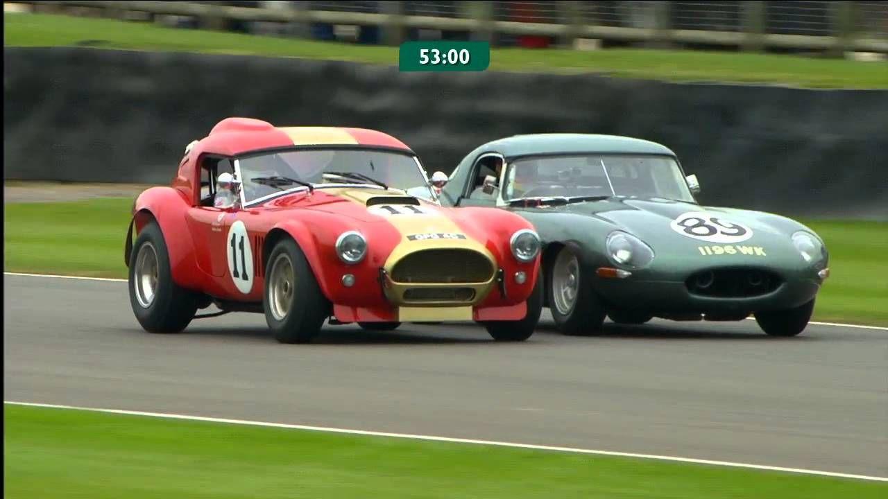 Sliding overtake on the outside for Jaguar to beat Cobra