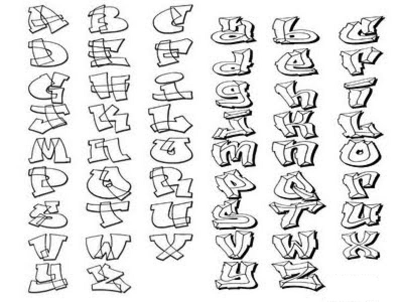 Hairstyle 6 Letters: How To Draw Graffiti Letters A-Z
