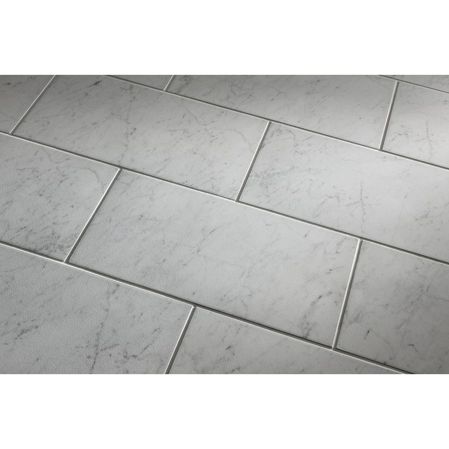 2 30 sqft Shop Style Selections Futuro White Porcelain Floor Tile      2 30 sqft Shop Style Selections Futuro White Porcelain Floor Tile  Common   12 in x 24 in  Actual  11 75 in x 23 75 in  at Lowes com