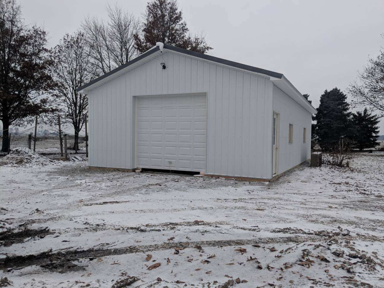 This 24x40 Post Frame Building Is Located In Wayne Ohio In Wood