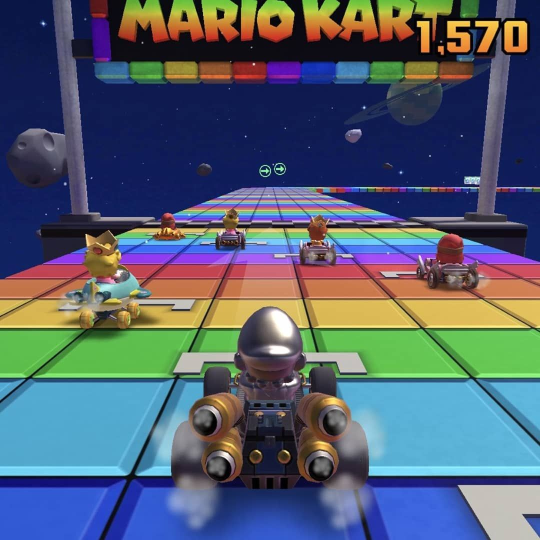 Every Rainbow Road Track Over The Mario Kart Series