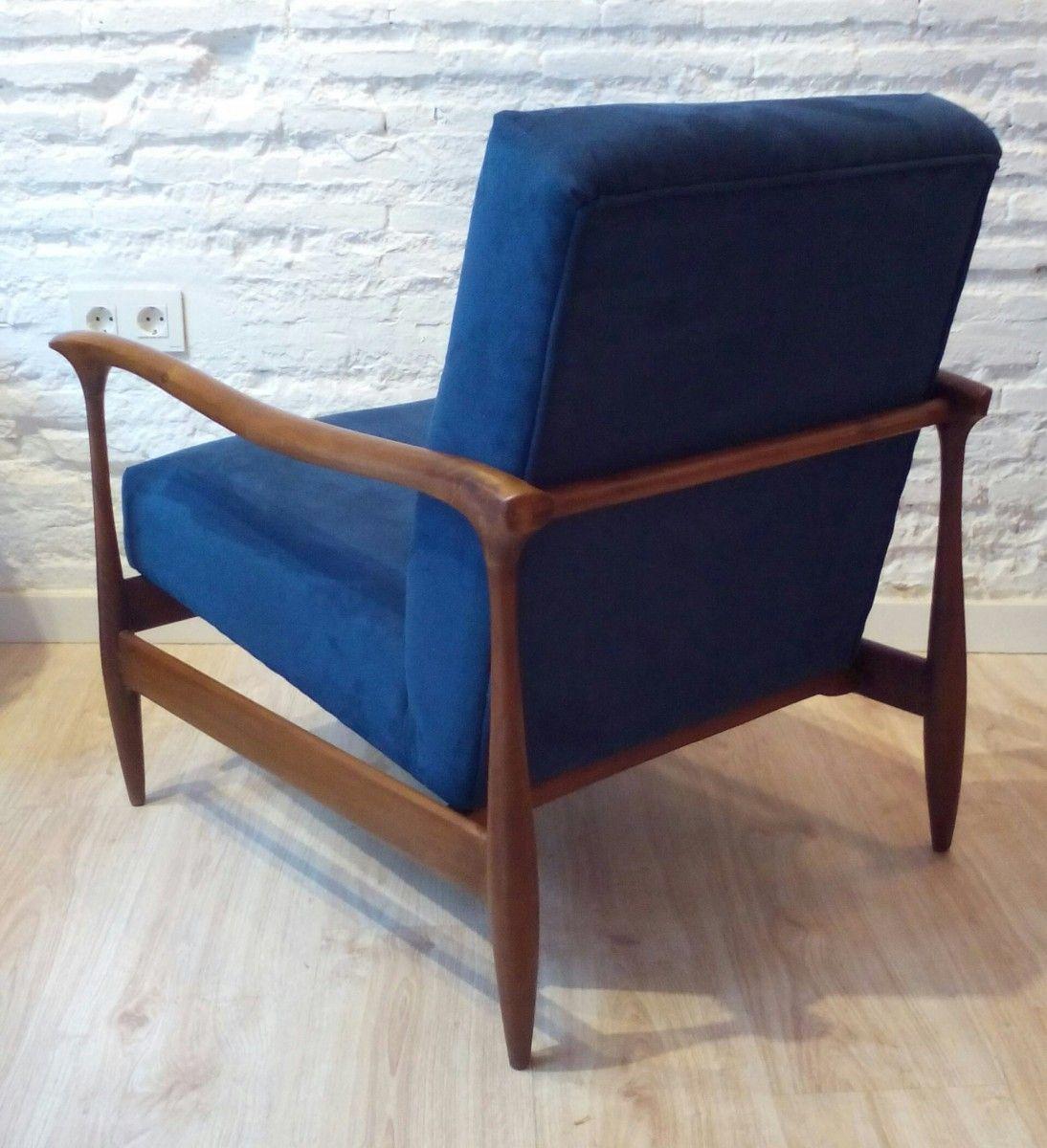 Bluemidcenturydanisharmchairs modern vintage pinterest