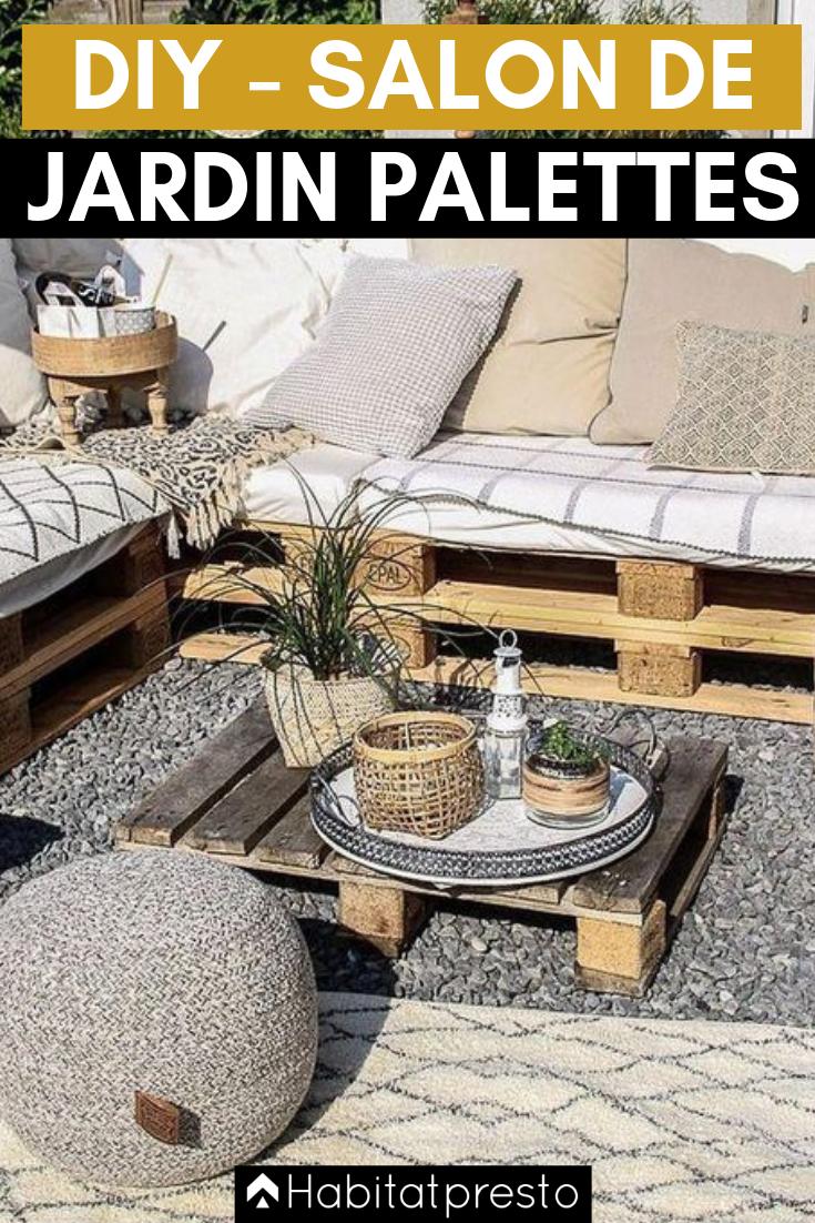 Salon de jardin en palettes : 20 idées déco originales  Salon de