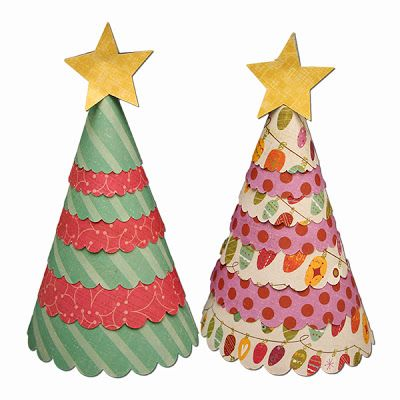 Paper Christmas Trees really easy to do; good try-out with the