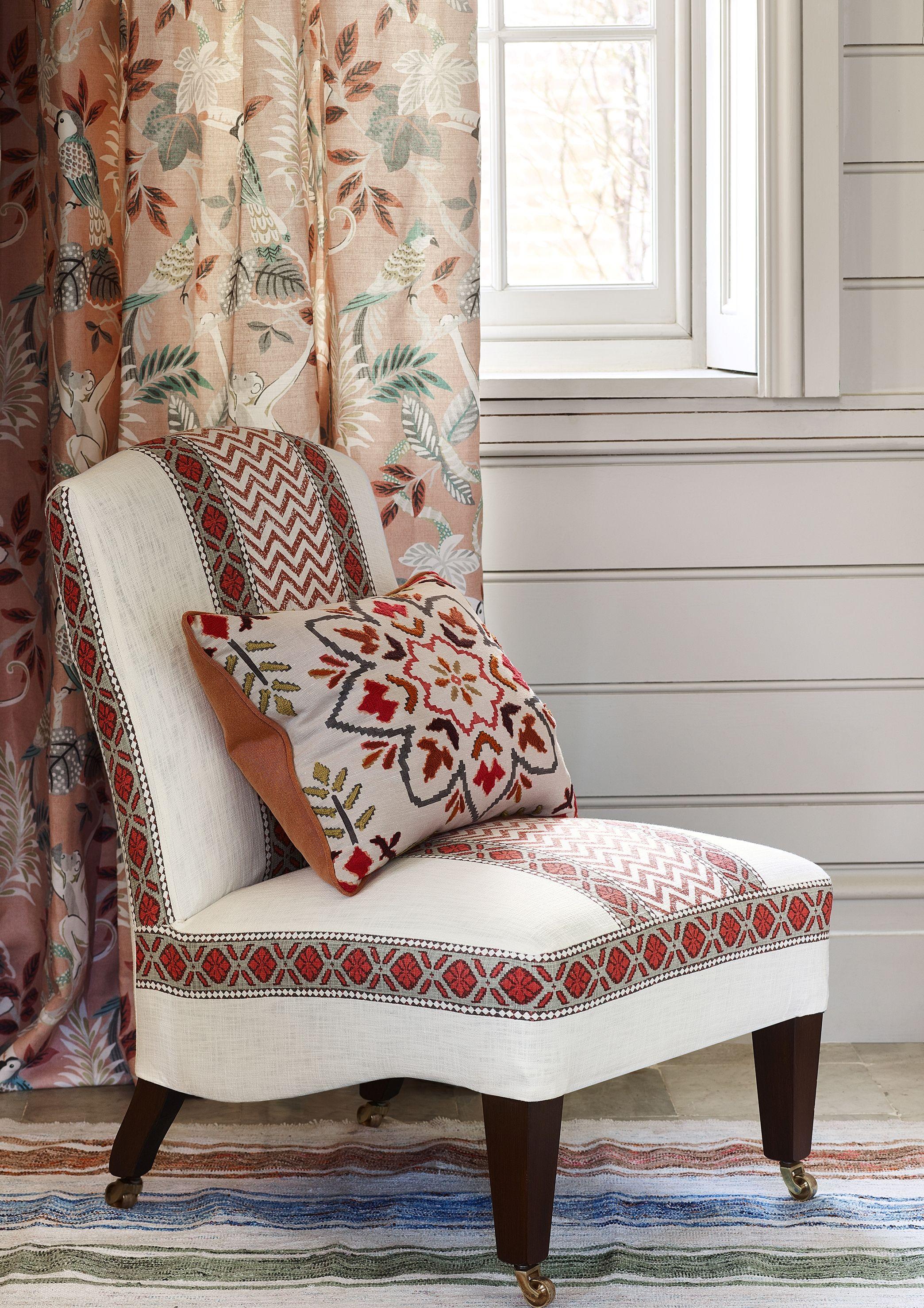 Indira Chari Stripe Chintal By Jane Churchill Furniture