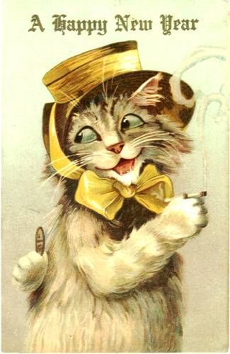 happy new year louis wain kitty vintage happy new year happy new year cards