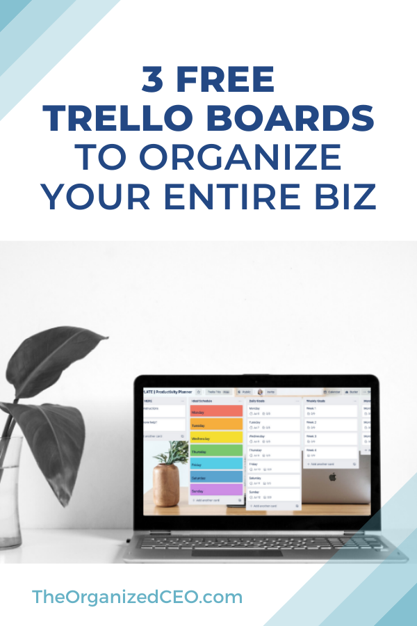 Pin on The Organized CEO Trello Template Shop