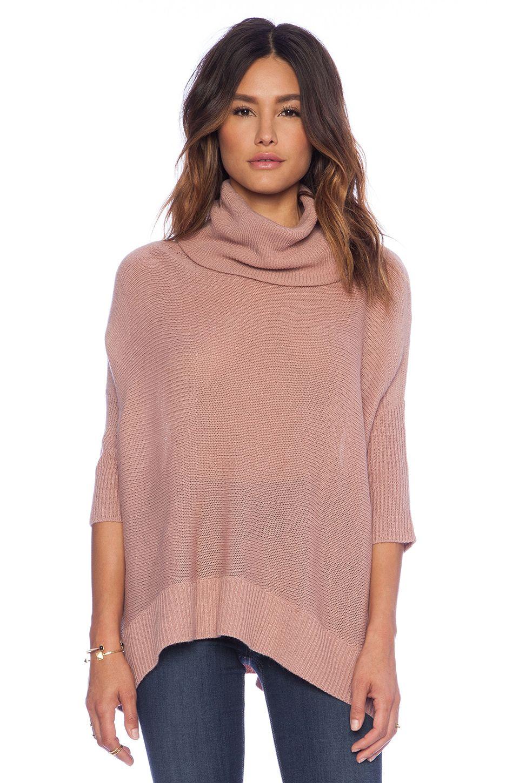 BB Dakota Collective Starla Cowl Neck Sweater in Dusty Rose ...