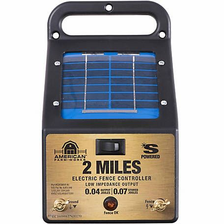 10 Mile Low Impedance Livestock Electric Fence Energizer Solar Powered Charger