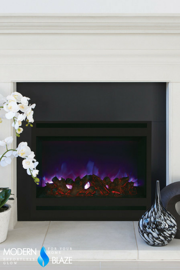 Amantii 32 Built In Zero Clearance Electric Fireplace W Square
