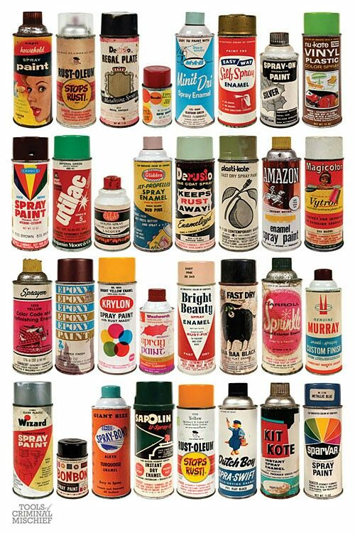 Oldschool Spraypaint Collection Spray Paint Cans Spray Can Paint Cans
