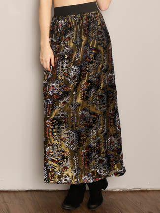 California Moonrise Velvet Shimmer Skirt