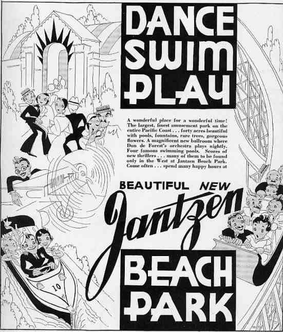 Beach, Jantzen, Abandoned Amusement Parks
