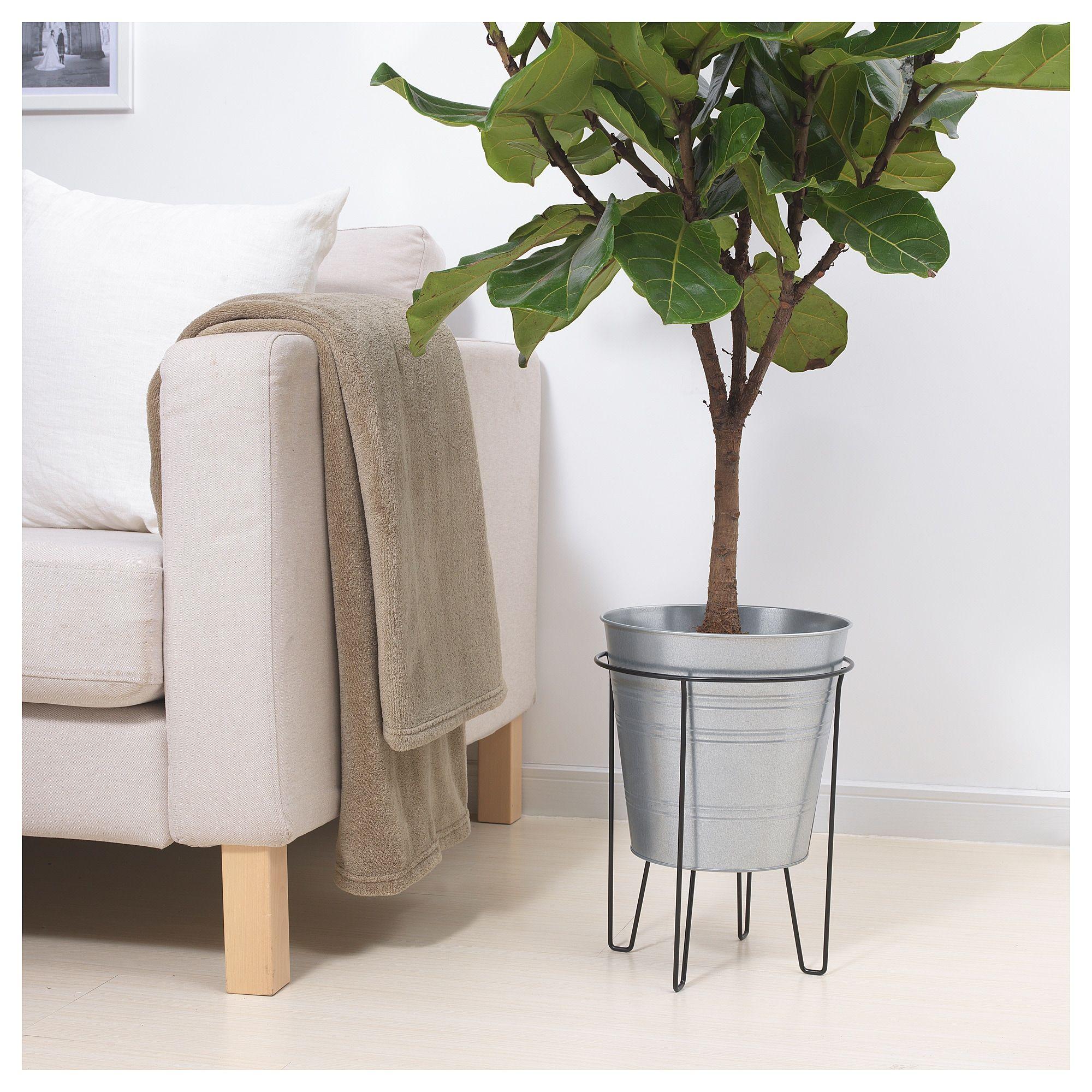 Ikea Svartpeppar Plant Stand Indooroutdoor Black Home