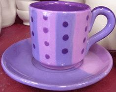 Purple Mug And Saucer