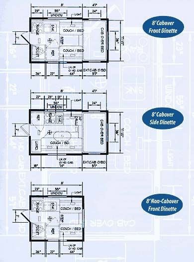 You can design your own floor plan and Alaskan Camper will certify and name  it after