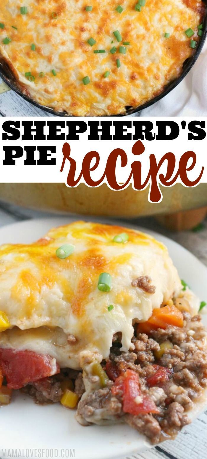 EASY SHEPHERD'S PIE RECIPE - Shepards Pie is hearty, savory, delicious, and a great quick dinner recipe. Shepards Pie is also a great way to use of leftovers! #shepardspie