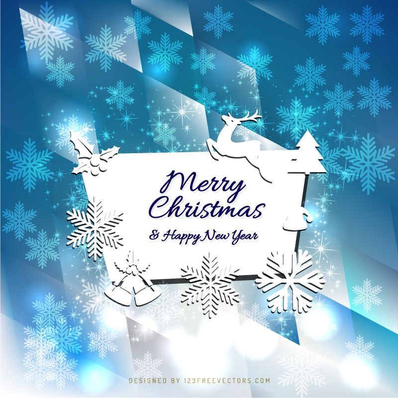 Merry Christmas And Happy New Year Card Design With Images New